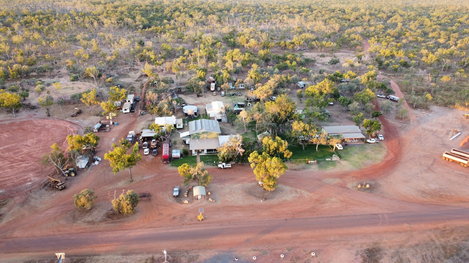 Hell's Gate Roadhouse view from helicopter